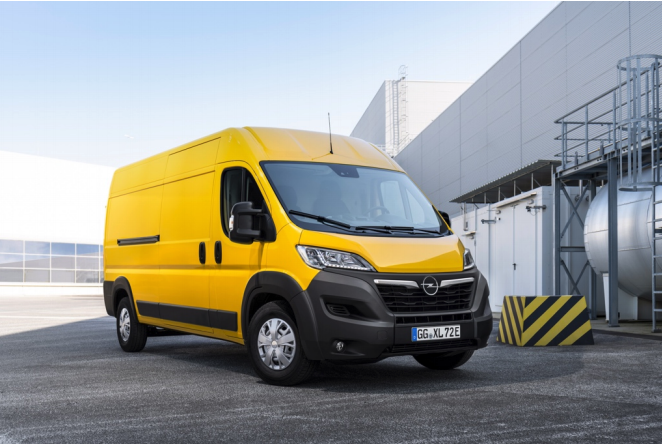 Opel Movano-E electric panel van with BEDEO powertrain
